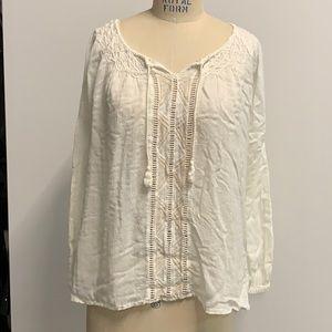 Beachy pheasant blouse